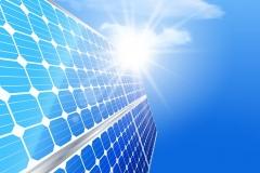 Alternative renewable solar energy and environmental concept.