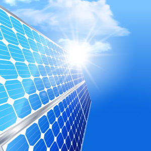 PV Solar Panels creating energy in California